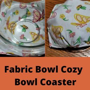 Fabric Bowl Cozy // Bowl Coaster // Reversible